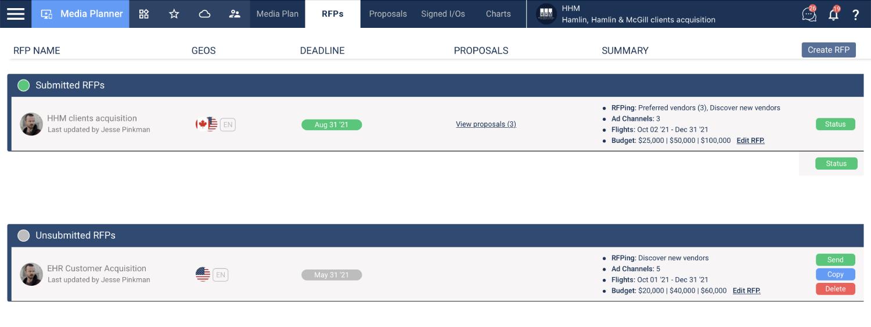 Triple bid RFP process